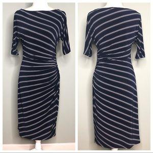 Ralph Laurel Navy White gross stripe dress